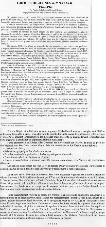 """Groupe de jeunes"""" Bir Hakeim"""" 1942-1945"""