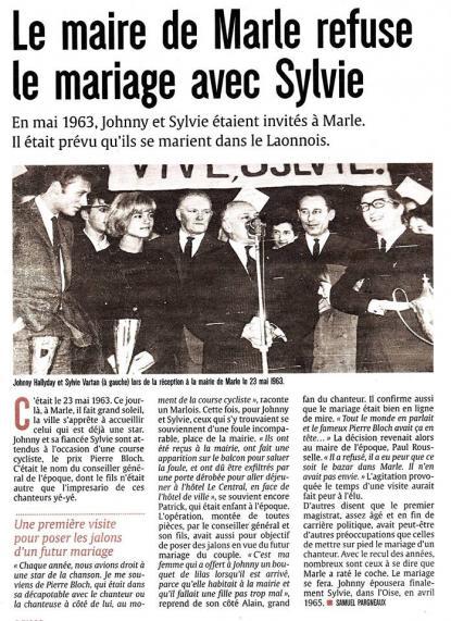 Le mariage de Sylvie Vartan et Johnny Hallyday