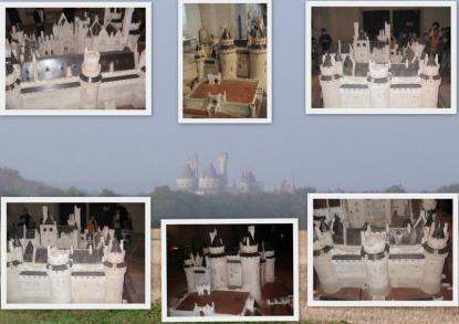 Mickael Jackson et la maquette du Château de Pierrefonds