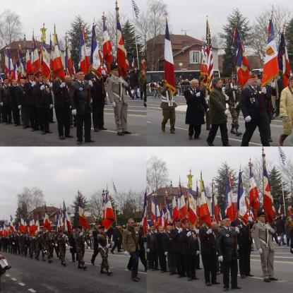 Royallieu : défilé des drapeaux